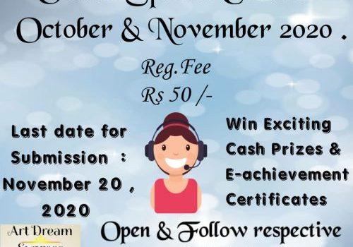 Online Speech Contest -(October & November, 2020)