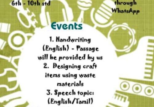 Online Competition – Handwriting, Craft, Speech
