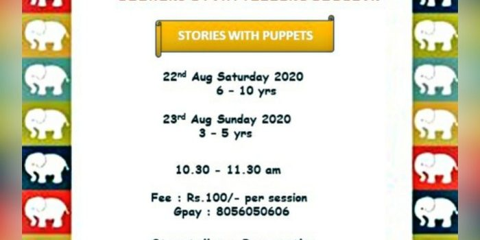 Weekend Storytelling Session on August 22 & 23, 2020