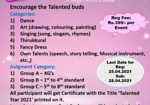 Twinkling Star Kids Presents Talentina 2021