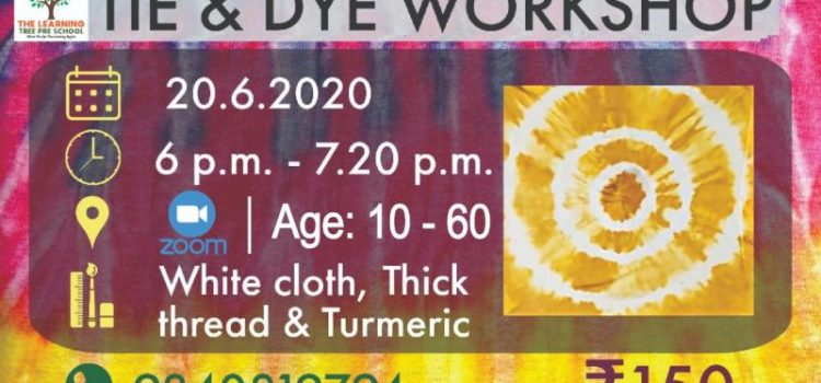 Tie and Dye One day Workshop