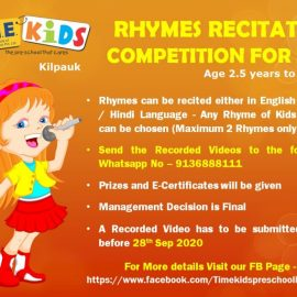 Rhymes Recitation Competition for the Kids