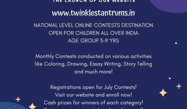 Twinkles Tantrums – July 2020 – National Level Online Contests