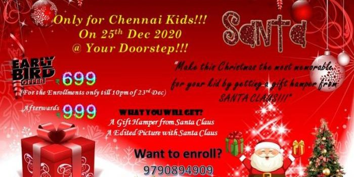 Get a Gift Hamper from Santa Claus On 25th December 2020 @ Your Doorstep!!!