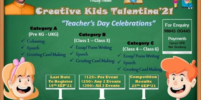 CREATIVE KIDS TALENTINA 2021   Teachers Day Online Competition