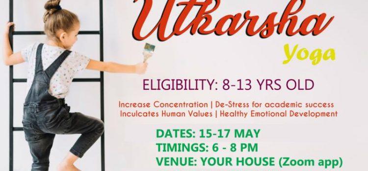 ONLINE UTKARSHA YOGA from May 15 to 17, 2020