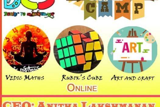Vedic Math, Rubik's Cube, Arts Summer Camp 2021