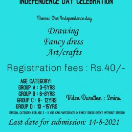 Vidya's Academy of Fine Arts Independence Day Celebration 2021