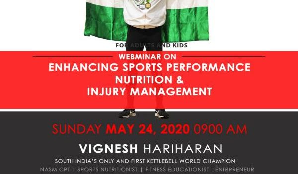 A Webinar on Health, Nutrition, Fitness and Injury management for Kids & Adults by WORLD CHAMPION