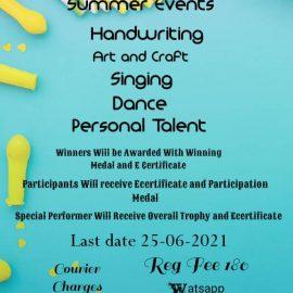Wiser Academy Summer Events 2021