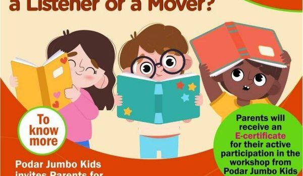 Podar Jumbo Kidsplus Mugalivakkam Free Workshop for Kids