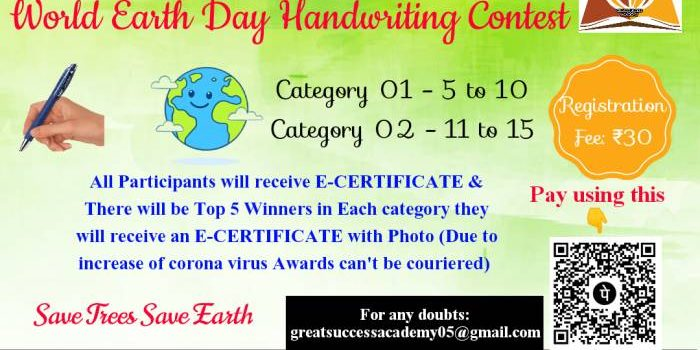 World Earth Day and Writing Contest by Great Success Academy