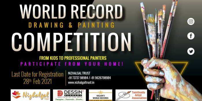 All India World Record Art Contest 2020-2021 From Home!